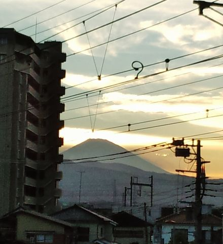 雲と富士山2