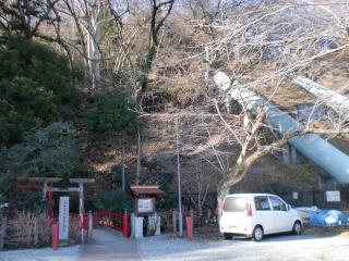 2014年01月11日 山居沢不動尊・鳥居2