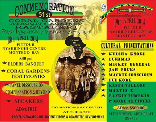 Jamaica,Rastafari Bad Friday 2014 poster