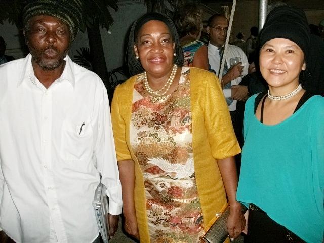 日本ジャマイカ大使ミス・クラウディア、アフリカン・シンボル、パンプキン・ヨーコ、