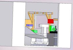 3Dで書いたヒノモトロータリーべース・日野十日町機関区というガレージの予想スケッチ