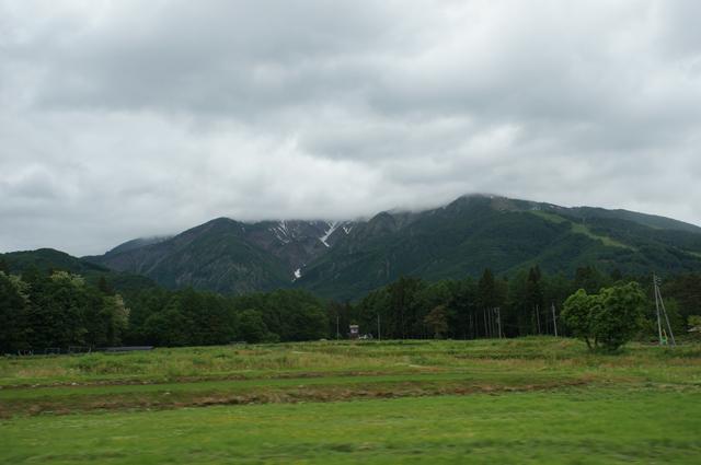 雲に隠れた大雪渓