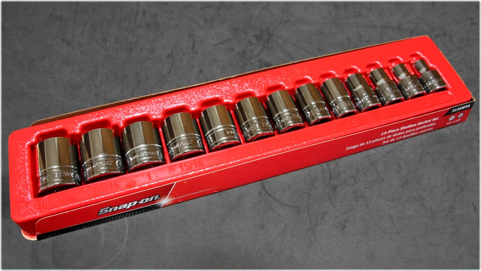 Snap-on 313SWYA 12-Point Shallow Socket Set (13 pcs.) [1/2