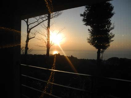 豪華宿から日の出