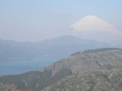 箱根で富士山