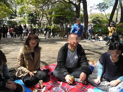 2上野公園花見