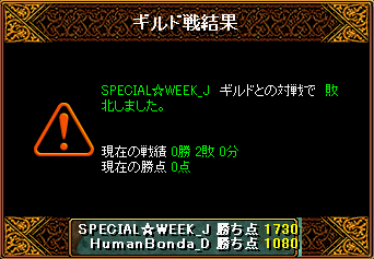 20140218 SPECIAL☆WEEK_J様 結果