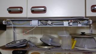 キッチン用施工中