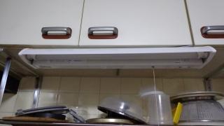 キッチン用施工完了点灯試験前