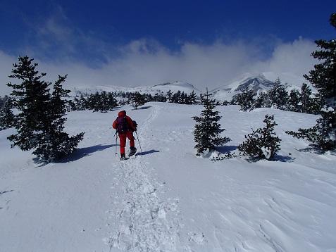 スキー場上