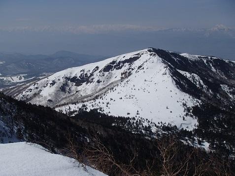 根子岳と北アルプス