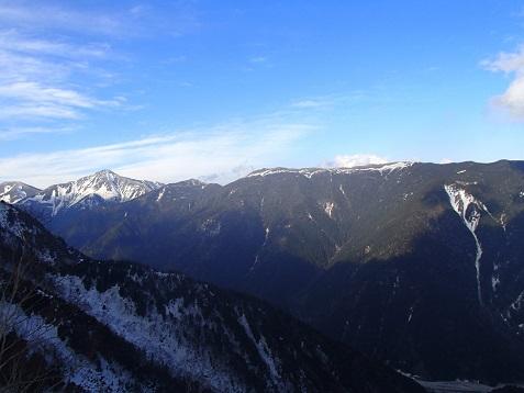 蝶ヶ岳と常念岳