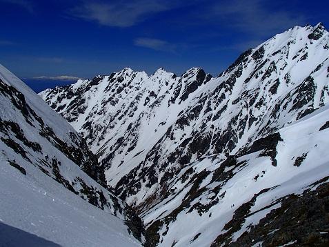西穂への稜線