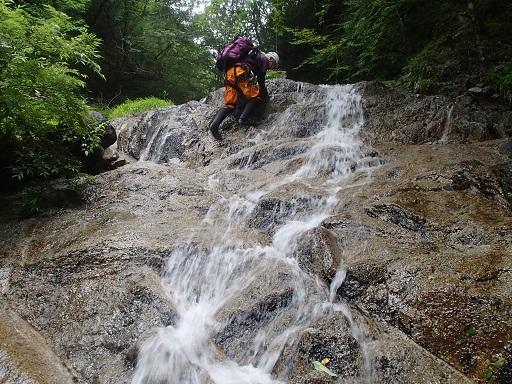 4段13m滝の上段