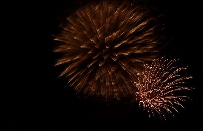 丹沢湖の花火