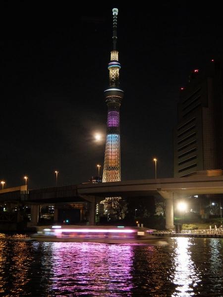 東京スカイツリー・ライトアップ43〔フリー写真〕