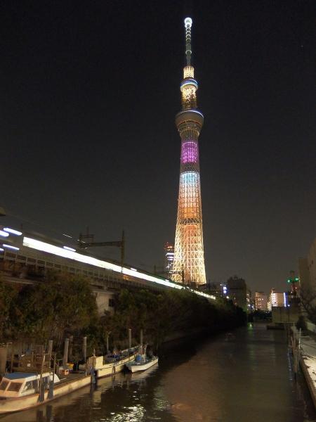 東京スカイツリー・ライトアップ45〔フリー写真〕