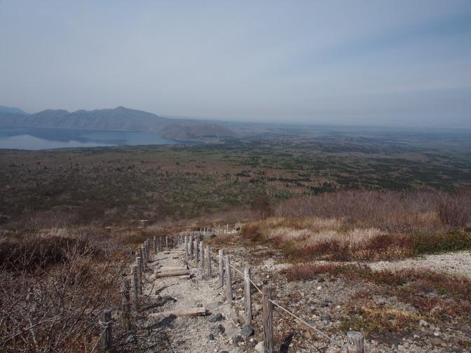 支笏湖を一望