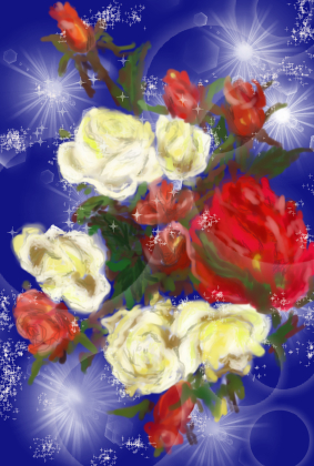 イラスト 薔薇1
