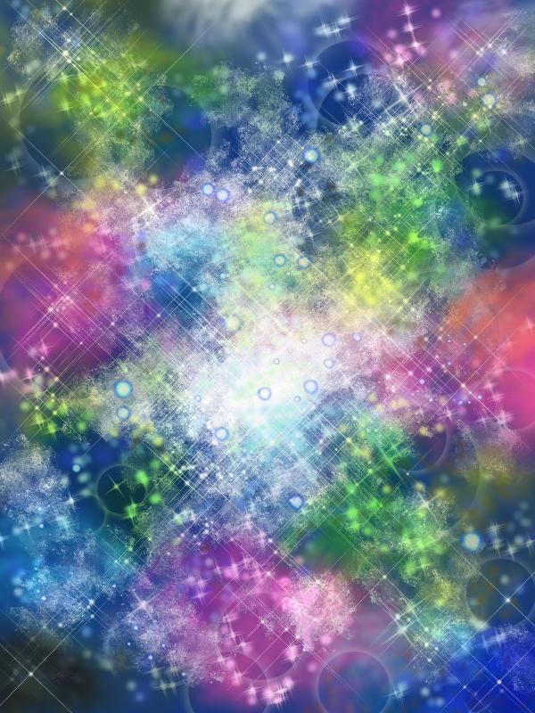 オーロラの星空