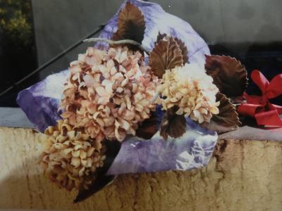 紫陽花花束ドライフラワー風
