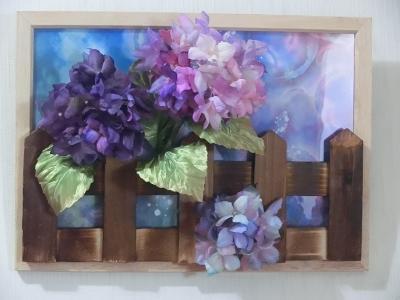 紫陽花の額1