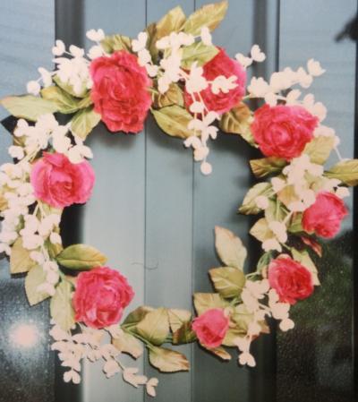 薔薇と鈴蘭のリース