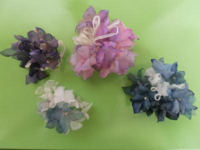 紫陽花コサージュ5