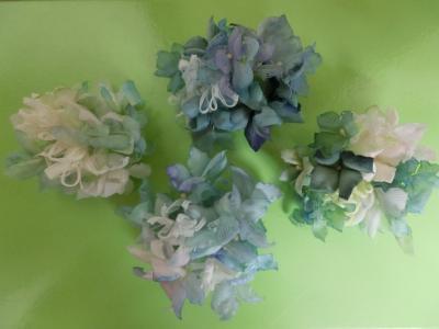 紫陽花コサージュ1