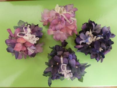 紫陽花コサージュ2