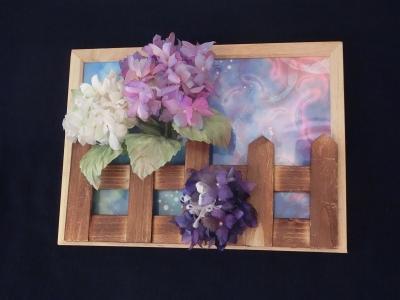 紫陽花の額2