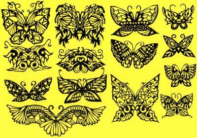 切り絵蝶々