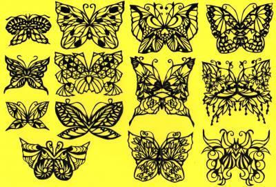 切り絵蝶々2