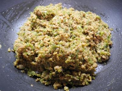 20140319フキノトウの肉味噌