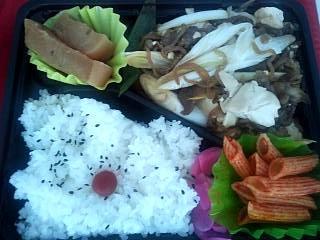 20130911肉豆腐弁当