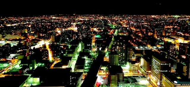 札幌駅北側夜景