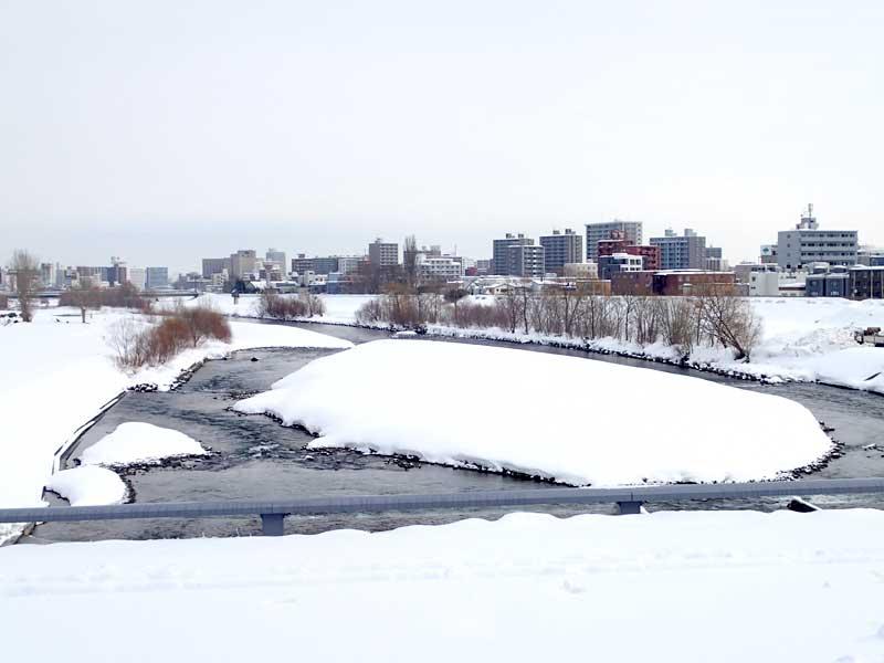幌平橋から見た豊平川