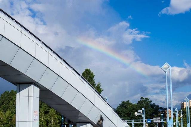 札幌の空(幌平橋より)