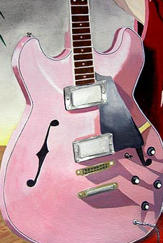 ピンクのギター