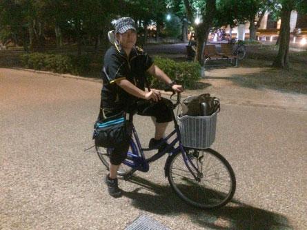 ヨシさん自転車_140727