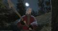 月明かりの中で。
