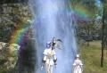 虹をみた。