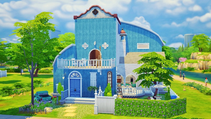 Sims4初プレイと建築02