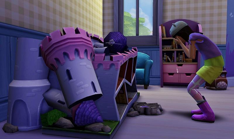 Sims4初プレイと建築13