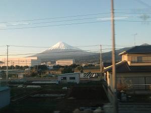 車窓の富士