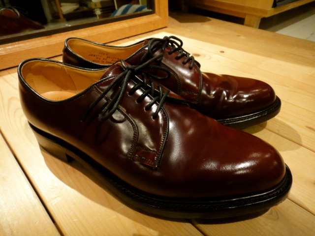 ★Loake made in England バーガンディプレートゥシューズ★