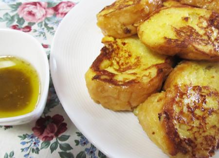 フランスパンでフレンチトーストを作ってみました♪