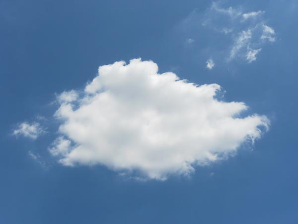 お魚みたいな雲