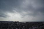 遠くのズリ山