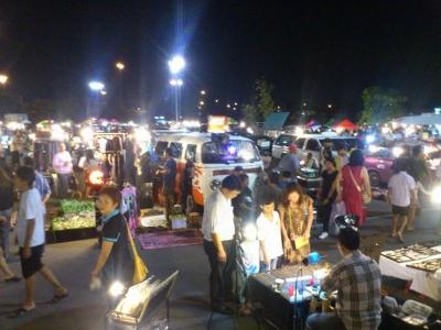 バンコクのフリーマーケット画像